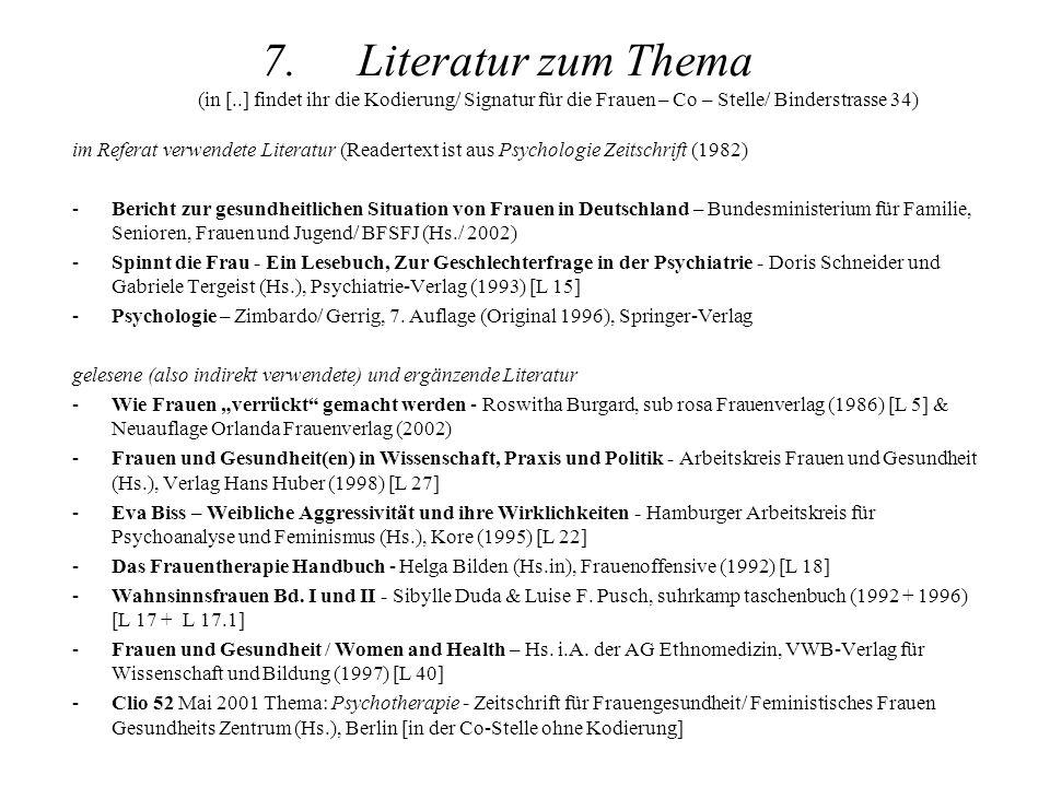 Literatur zum Thema (in [
